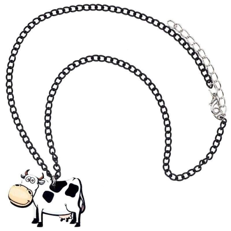 Acrylic Cow Necklace For Women | Cow Loco