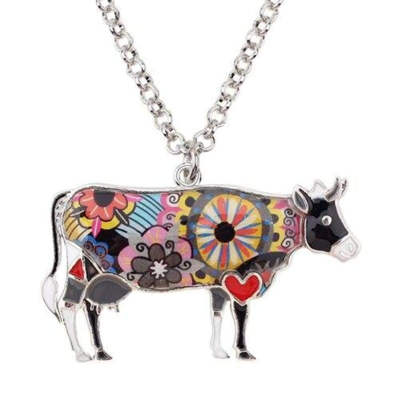Colorful Cow Necklace | Cow Loco