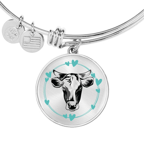 Personalized Cow Lover Bangle