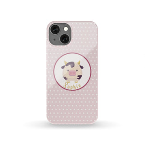 Personalized Shabby Chic Cow Phone Case