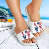 Love Flag Heart Sandals | Cow Loco