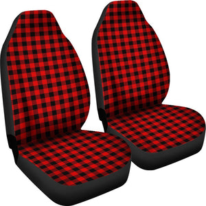 Lumberjack plaid car seat covers (Set of 2) | Cow Loco