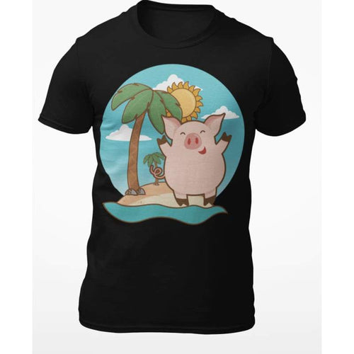 Pig On Vacation T-Shirt | Cow Loco