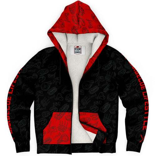 BBQ Zip Up Microfleece Premium Hoodie | Cow Loco