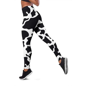 Vibrant Cow Print Leggings | Cow Loco