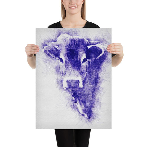 Personalized Printed Poster - Pen Ink | Cow Loco