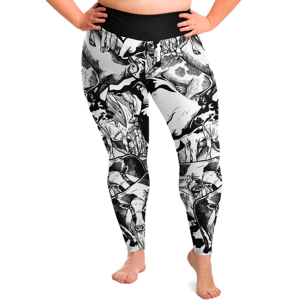 Cow Pattern Plus Size Leggings