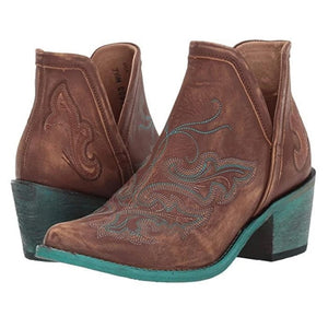 Casual Western Cowgirl Ankle Boots