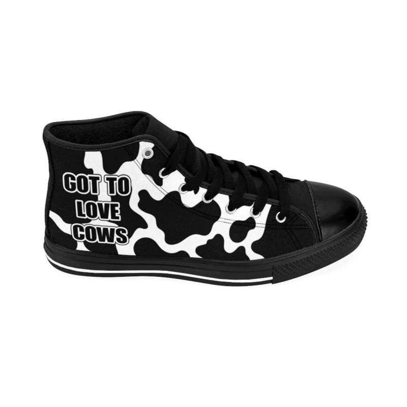 Cow Print Women's High-top Sneakers | Cow Loco