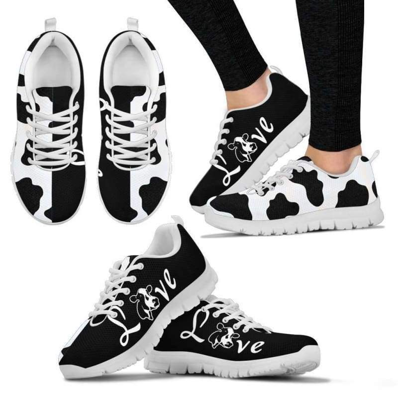 Dairy Cows Women's Sneakers - Designs For Farmers