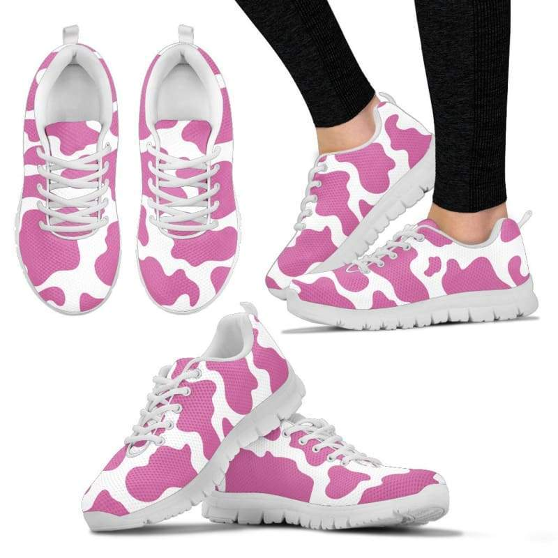 Pink Cow Pattern Sneakers - Designs For Farmers