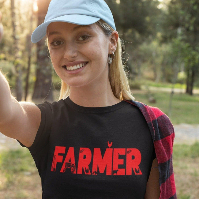 Farmer typography t-shirt