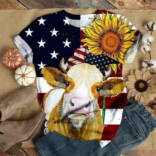 Women's Cow Flag T-Shirt