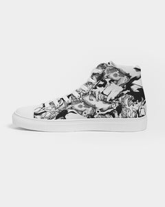 Cow Pile Women's Hightop Canvas Shoe