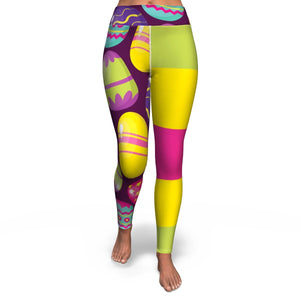 Easter Eggs Yoga Leggings | Cow Loco
