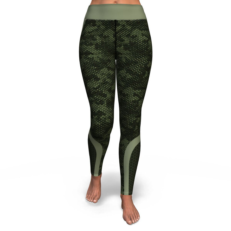 Hexagon Camo Leggings | Cow Loco