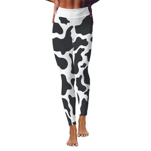 Body-Lifting Cow Print Yoga Leggings | Cow Loco