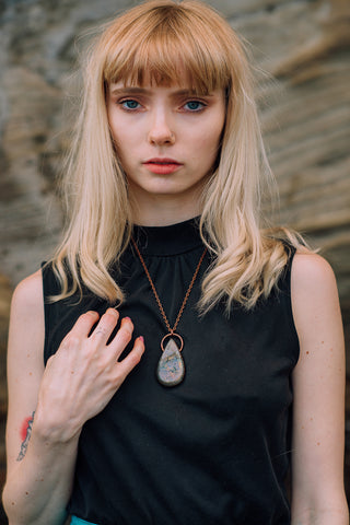 Girl Wearing Labradorite