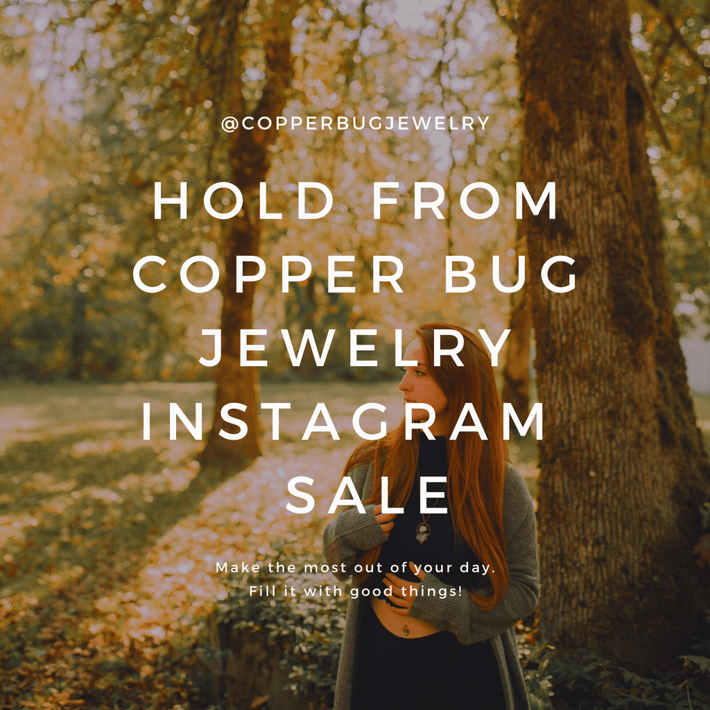 Necklace for @13allykat13 Copper Bug Jewelry