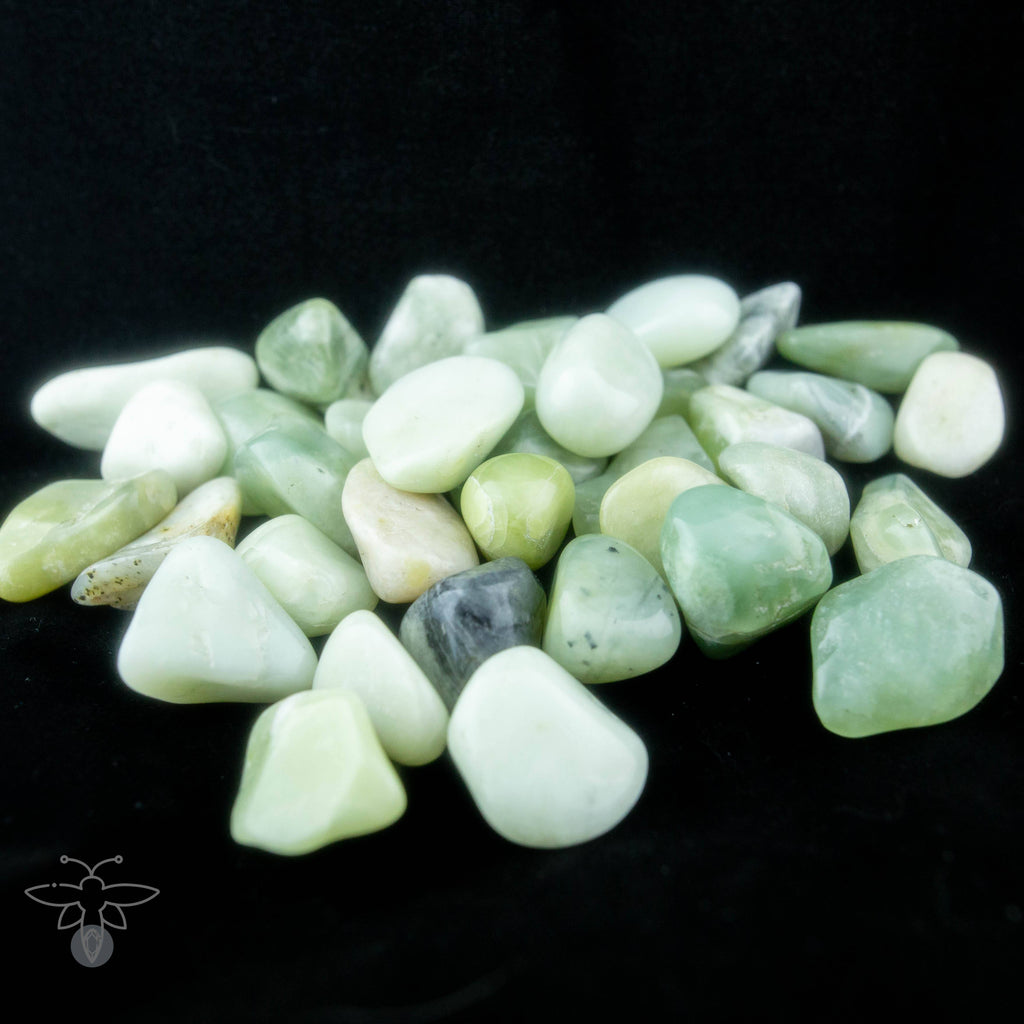 Small Jade Tumbled Stones Healing Stones Copper Bug Jewelry