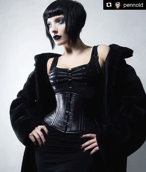 Black Leather Corsets - From Eternal Classic to Dark Gothic