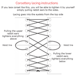 Lacing instructions and types.