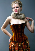 Authentic bespoke velvet corsets