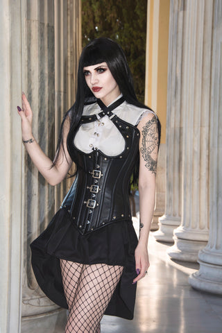 gothic leather corset vest