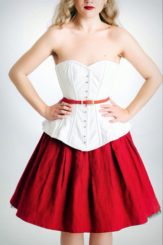 pinup leather corset