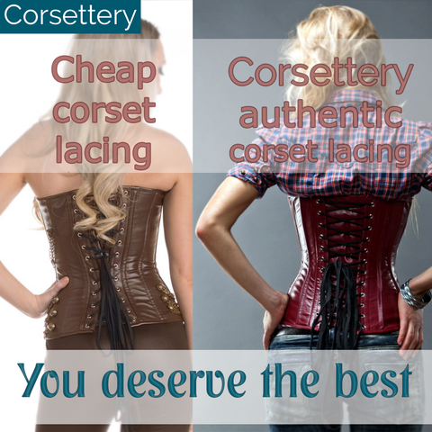 real leather corset
