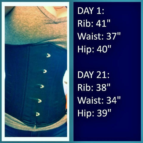 waist training with corset