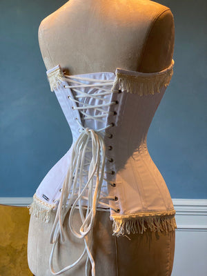 Cotton vintage overbust exclusive corset from Corsettery Western Collection - Corsettery Authentic Corsets USA