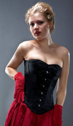 Classic satin overbust authentic corset, different colors. Steel-boned corset for tight lacing.