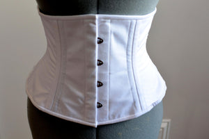 Real double row steel boned waist corset from cotton. Waist training fitness edition, vintage, everyday, tight lacing, steampunk, bespoke-Corsettery