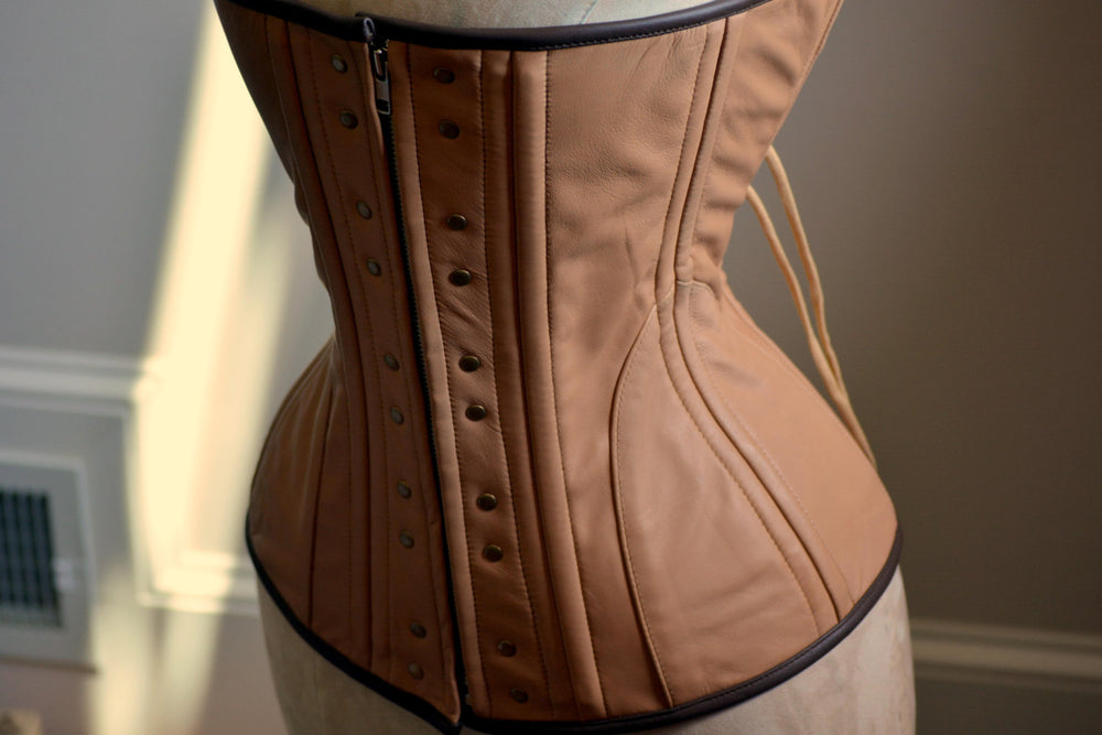 Real leather Ciri cosplay corset, steel boned cosplay exclusive corset