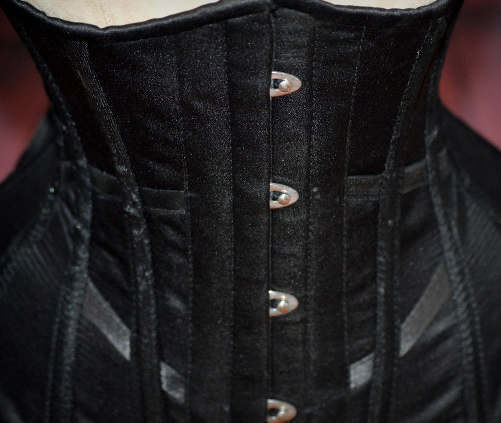 Hourglass made to measures underbust authentic satin corset, only bespoke. - Corsettery Authentic Corsets USA