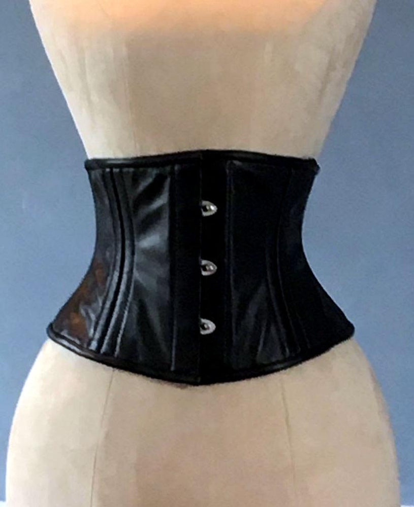 Sale! Real leather corset waspie with double bones for tight lacing and waist training. Gothic, steampunk, valentine, gf gift corset belt