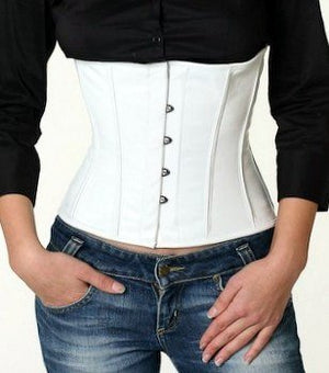 Lambskin waist steel-boned authentic corset, different colors. Leather corset for tight lacing - Corsettery Authentic Corsets USA