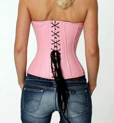 Lambskin halfbust steel-boned authentic heavy corset, different colors, gothic, alt, punk, steampunk, waist training, Pink leather corset-Corsettery