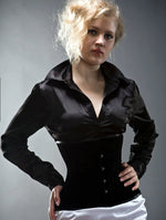 Authentic steel-boned velvet waist corset, different colors
