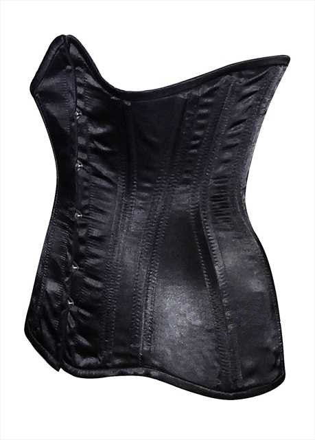 Real double row steel boned underbust corset from satin. Real waist training corset for tight lacing. Gothic, steampunk corset - Corsettery Authentic Corsets USA