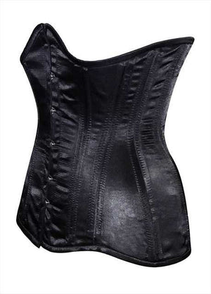 Real double row steel boned underbust corset from satin. Real waist training corset for tight lacing. Gothic, steampunk corset