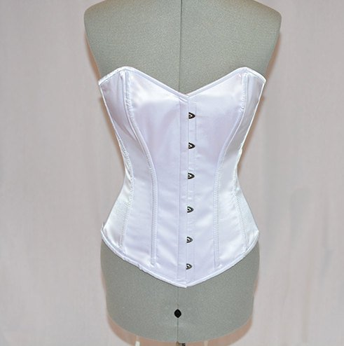 Classic satin overbust authentic corset. Steel-boned corset for tight lacing. - Corsettery Authentic Corsets USA