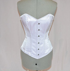 Classic satin overbust authentic corset. Steel-boned corset for tight lacing.