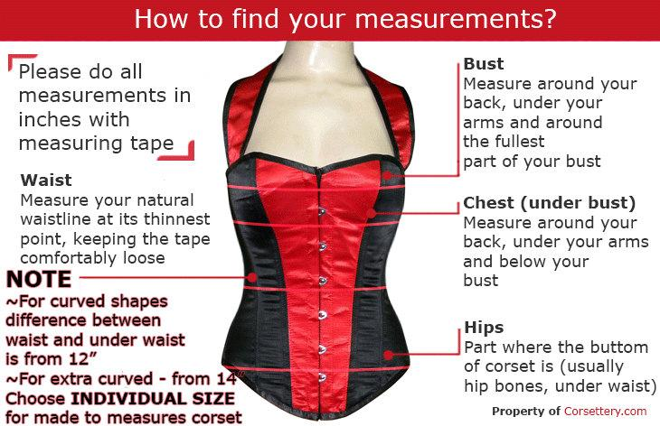 High quality lambskin waist steel-boned authentic corset of dark red color. Corset for tight lacing and waist training, steampunk, gothic - Corsettery Authentic Corsets USA