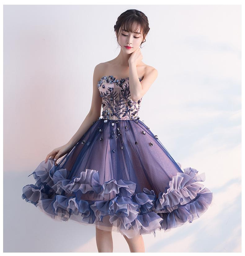 Amazing Tulle ball gown with tender delicate embroidery and tutu skirt, perfect prom and coctail dress
