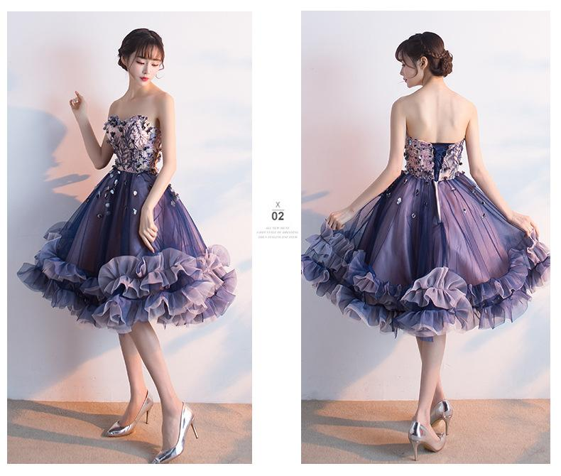 Amazing Tulle ball gown with tender delicate embroidery and tutu skirt, perfect prom and coctail dress - Corsettery Authentic Corsets USA