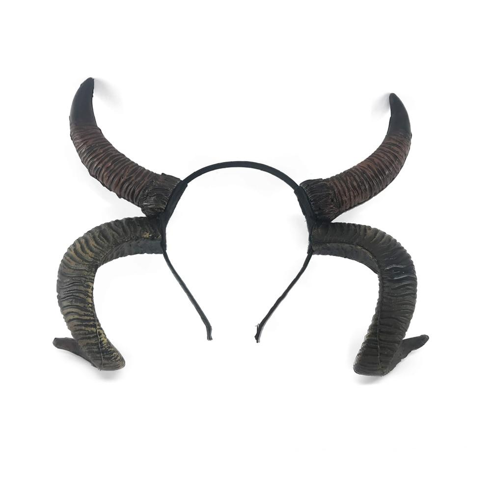 Antelope Sheep horn Headband Cosplay Animal Headwear, Steampunk Halloween gothic style headpiece