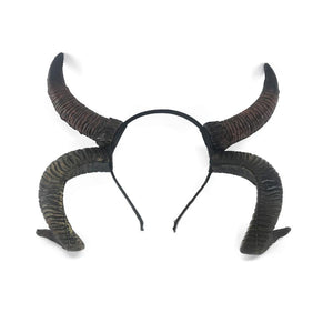 Antelope Sheep horn Headband Cosplay Animal Headwear, Steampunk Halloween gothic style headpiece - Corsettery Authentic Corsets USA