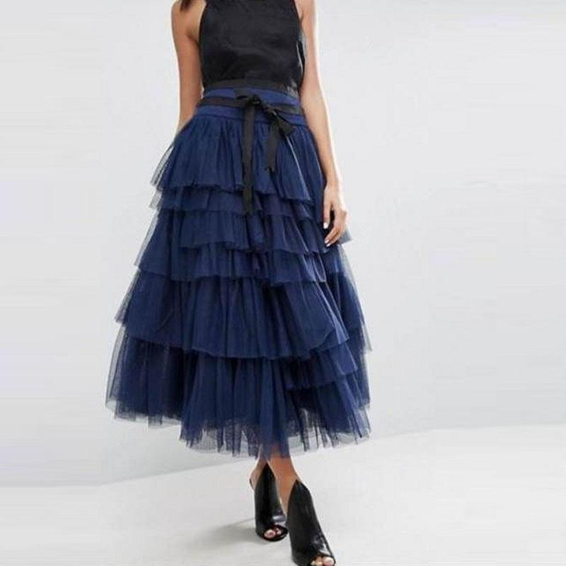 Stylish and trendy tutu skirt of navy blue or powder pink tulle